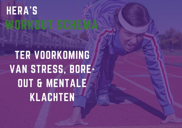 Workout ter voorkoming van stress, bore-out en mentale klachten